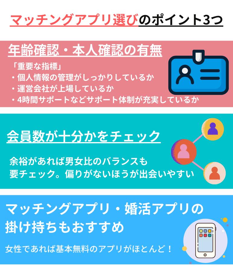 千葉で出会うためのマッチングアプリ選びのポイント3つ